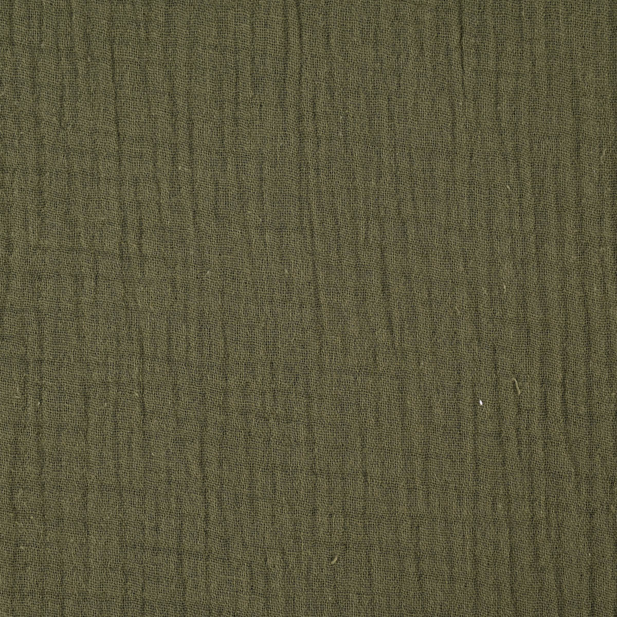 Double Gauze Musselin GOTS Bio Musselin Windelstoff einfarbig grün 1,30m Breite