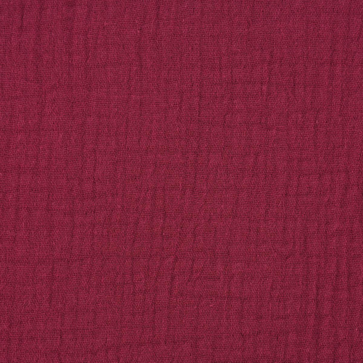 Double Gauze Musselin GOTS Bio Musselin Windelstoff einfarbig bordeaux rot 1,30m Breite