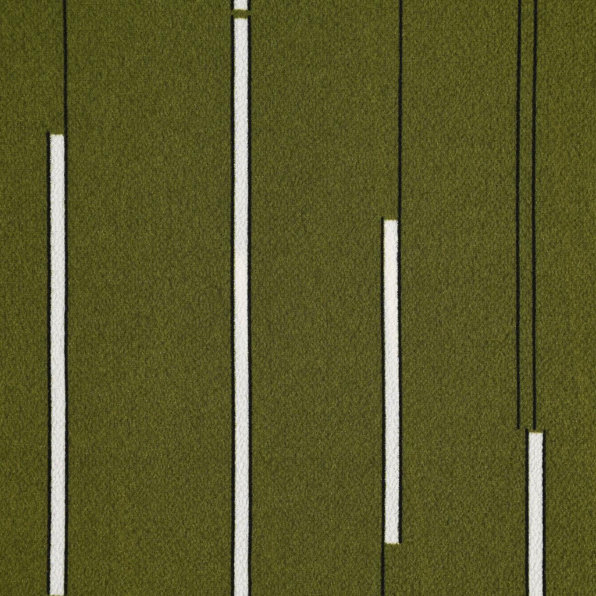 Bekleidungsstoff Chiffon Streifen khaki grün weiß schwarz 1,45m Breite