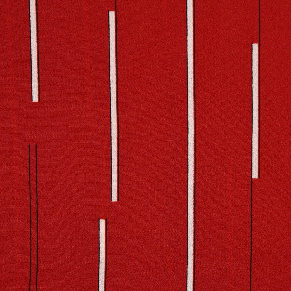 Bekleidungsstoff Chiffon Streifen rot weiß schwarz 1,45m Breite