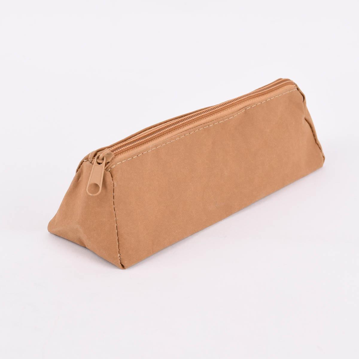 Creativ Company Federmäppchen mit Reißverschluss Lederpapier hellbraun 22x7x7cm