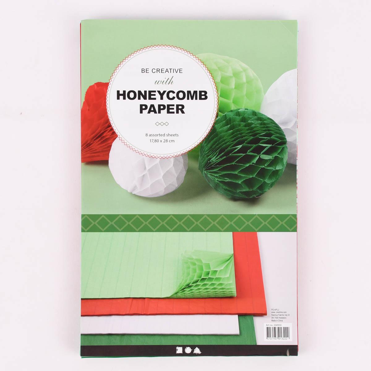 Creativ Company DIY Wabenpapier verschiedene Farben