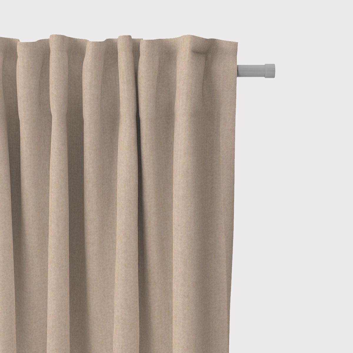 SCHÖNER LEBEN. Vorhang Leinenlook meliert uni dunkel beige 245cm oder Wunschlänge
