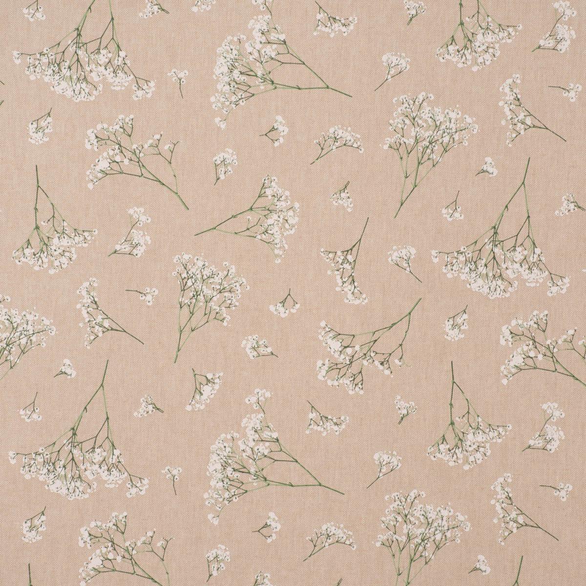 Dekostoff Halbpanama Leinenlook Florist Elegant Schleierkraut natur weiß 1,40m Breite