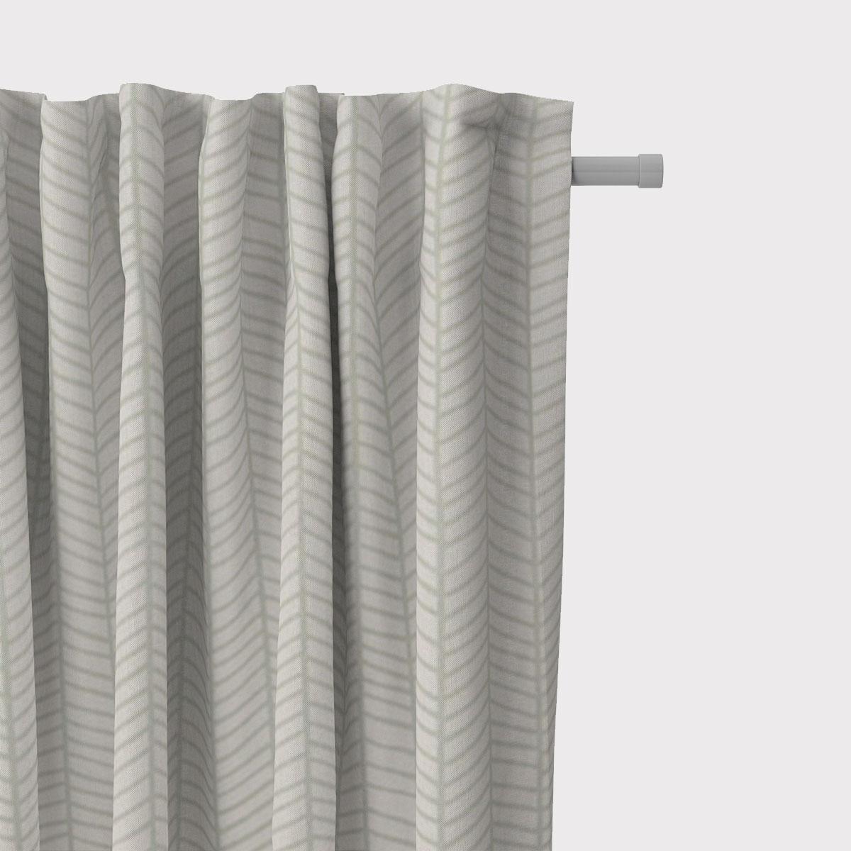 SCHÖNER LEBEN. Vorhang Fischgrätmuster abstrakt weiß mint 245cm oder Wunschlänge