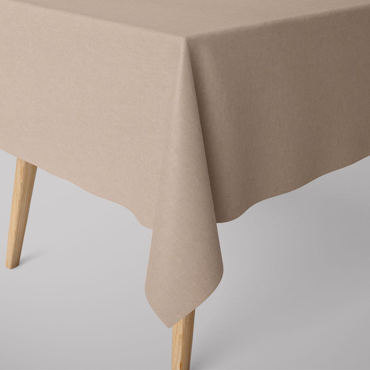 SCHÖNER LEBEN. Tischdecke Leinenlook uni natur verschiedene Größen