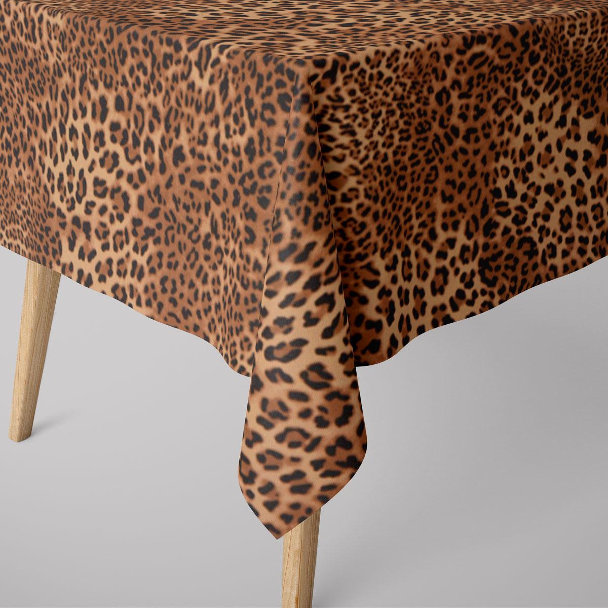 SCHÖNER LEBEN. Tischdecke Leopardenhaut Leo-Skin braun verschiedene Größen