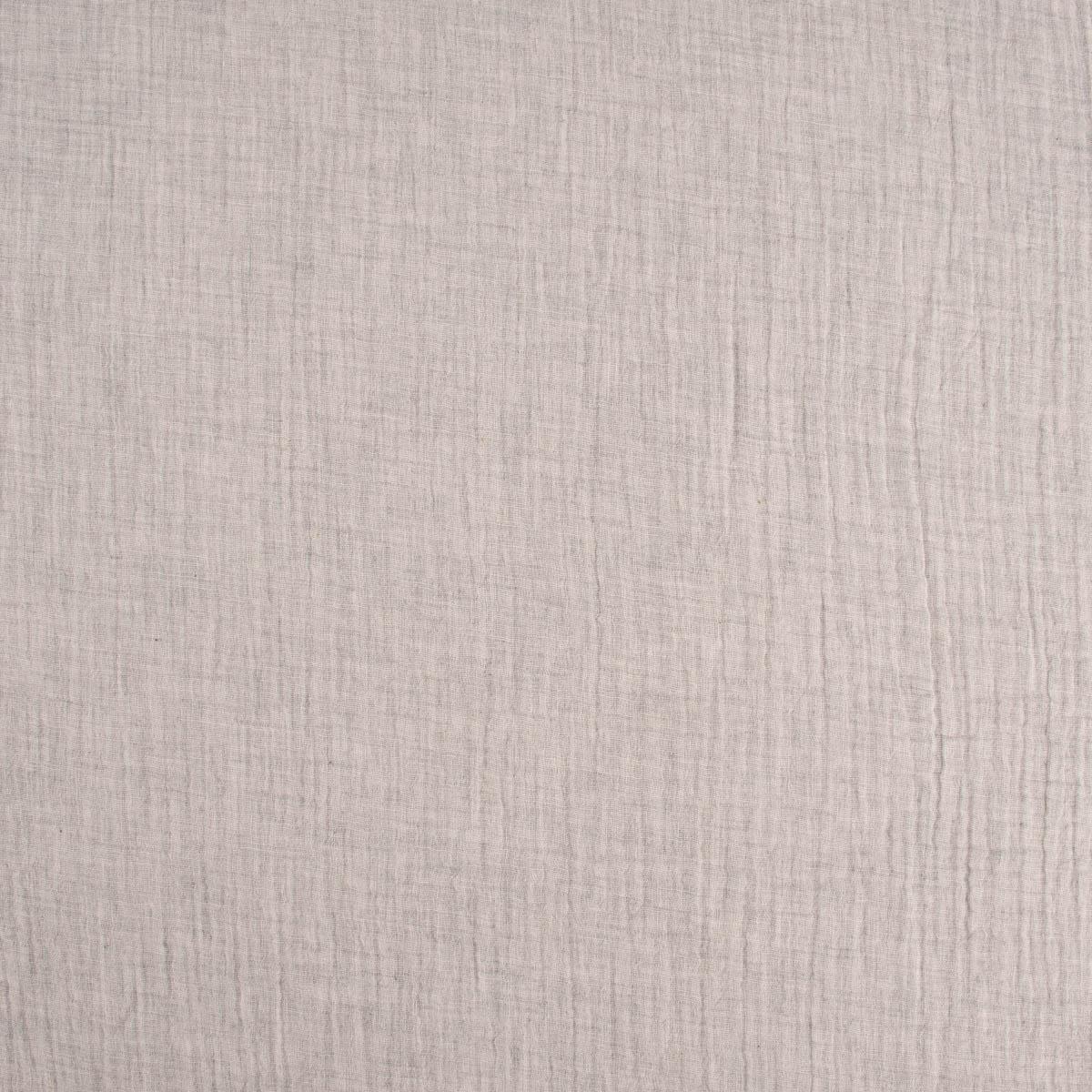 Bekleidungsstoff Double Gauze Musselin Windelstoff einfarbig taupe meliert 1,35m Breite