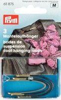Prym 3 Mantelaufhänger Kunstleder sortiert