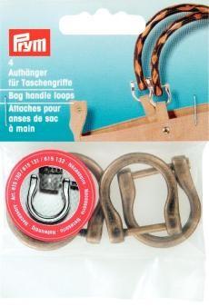 Prym 4 Aufhänger für Taschengriffe altmessing 18mm