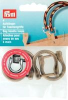Prym 4 Aufhänger für Taschengriffe altmessing 18mm 001