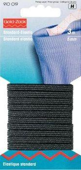 Prym 3m Standard Elastic Gummiband 5mm schwarz
