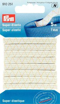 Prym 5m Super Elastic Gummiband 7mm weiß