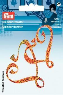 Prym Glamour Transfer Herzen orange