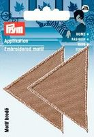 Applikation Dreiecke gross dunkel beige 001