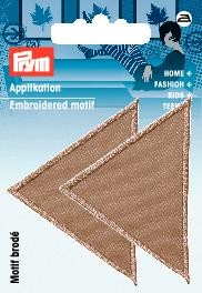 Applikation Dreiecke gross dunkel beige