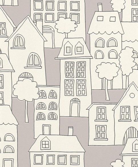 wallpaper for children Cliff grey