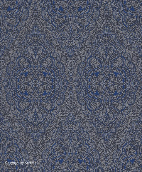 ornamental wallpaper Atanas princess blue
