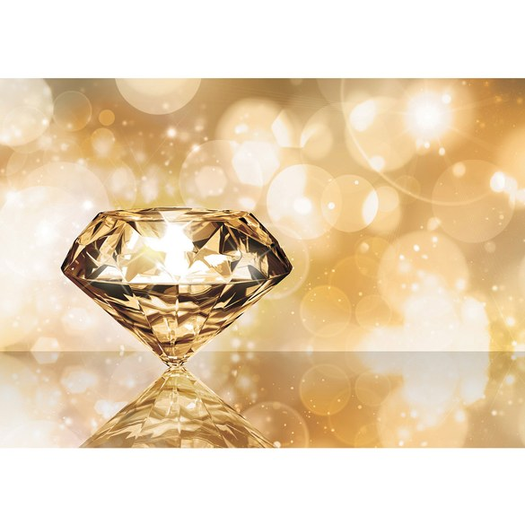 Fototapete no. 270 | Vlies | Illustrationen Tapete Diamant Glamour gelb Motiv 0270