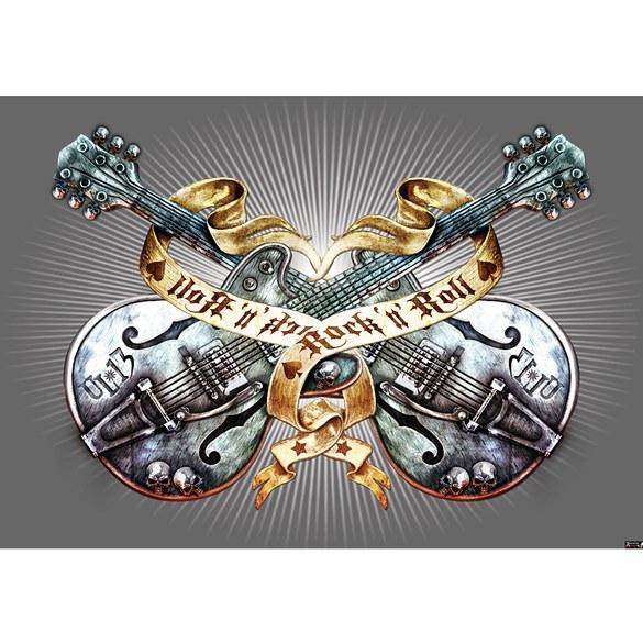 Fototapete no. 293 | Vlies | Illustrationen Tapete Alchemy Gitarre Rock `n` Motiv 0293