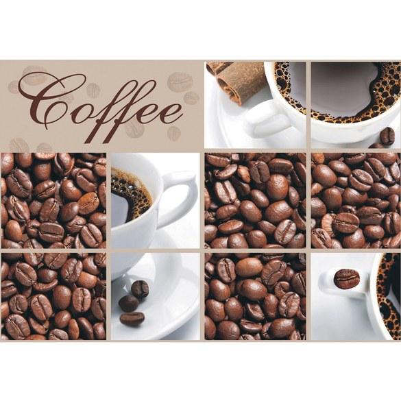 Fototapete Coffee - Kaffeebohnen + Kaffeetasse | Vlies | Kaffee Tapete Coffee Bohnen Tasse Braun beige