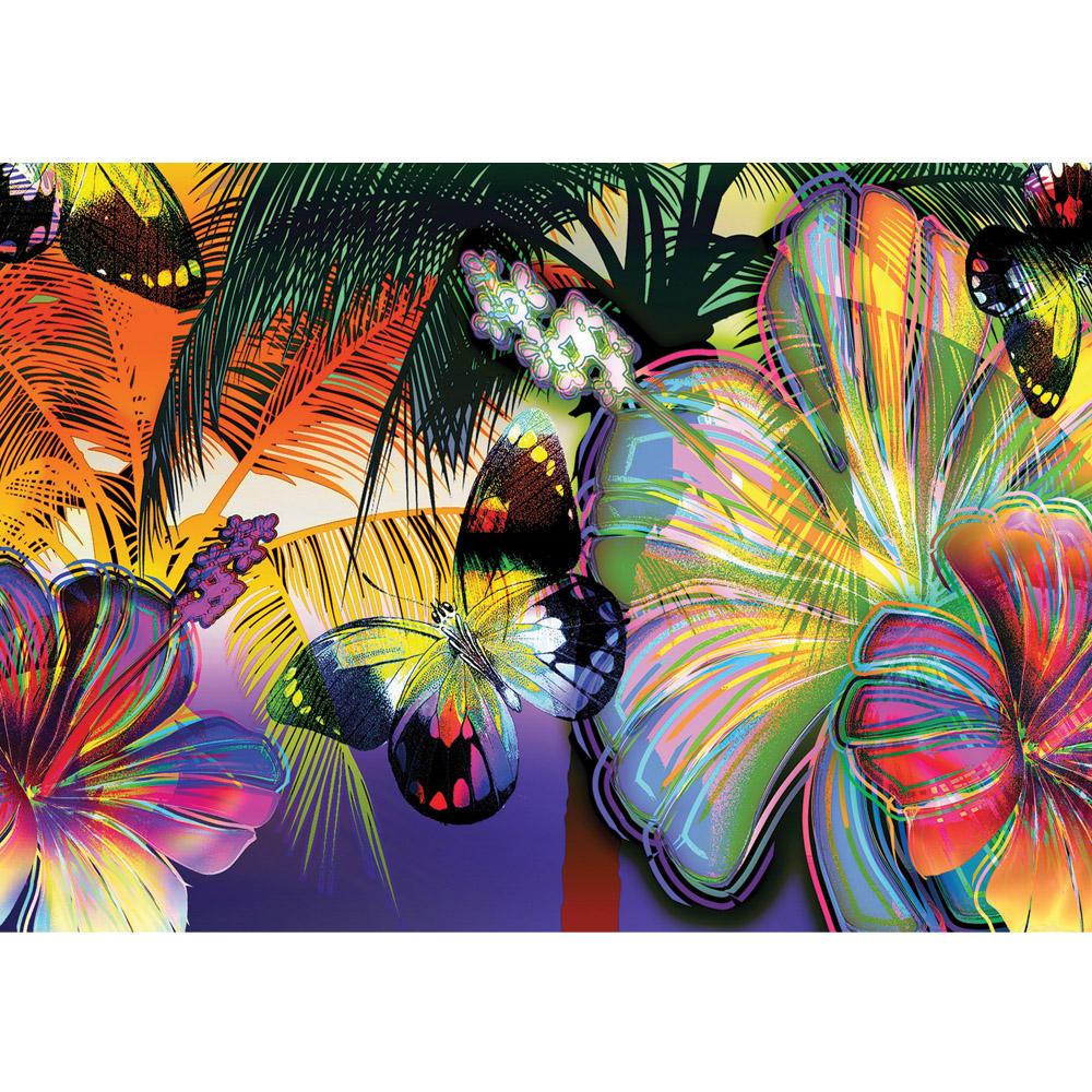 Fototapete no. 479 | Vlies | Kunst Tapete Abstrakt Blüten Schmetterling bunt Motiv 0479