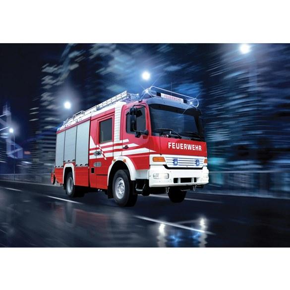 Non-woven Mural no. 535 | Skylines wallpaper firefighter car night lights red Motiv
