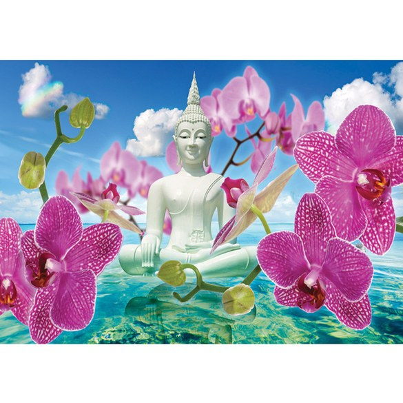 Mural no. 589 | Non-woven or Paper | orchids wallpaper buddah orchid