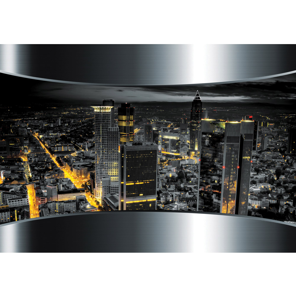 Fototapete no. 632 | Vlies | Skylines Tapete Stadt Panorama Tower Lightning Motiv 0632