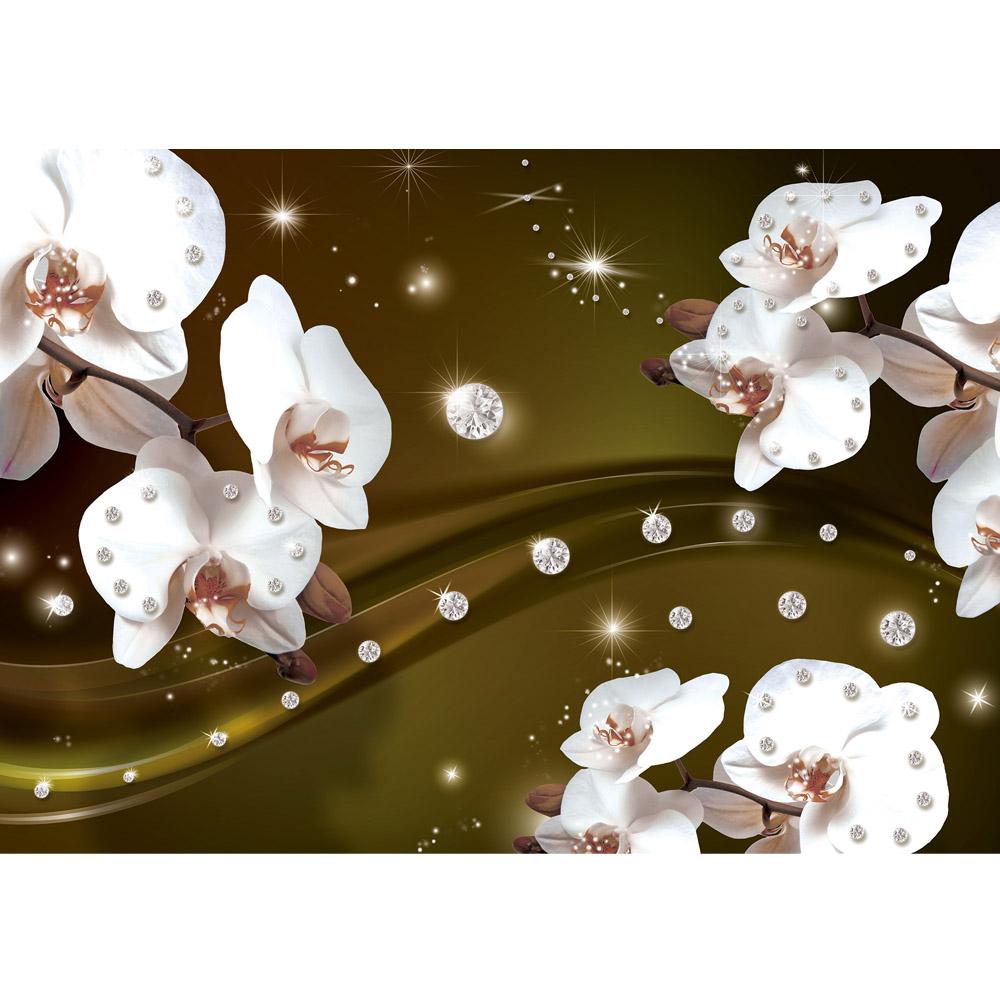 Fototapete no. 684   Vlies   Orchideen Tapete Ornament Orchidee Diamanten Motiv 0684