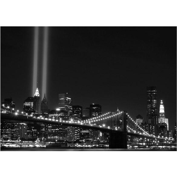 Fototapete no. 707 | Vlies | Skylines Tapete Brücke New York Tower Lichter Motiv 0707