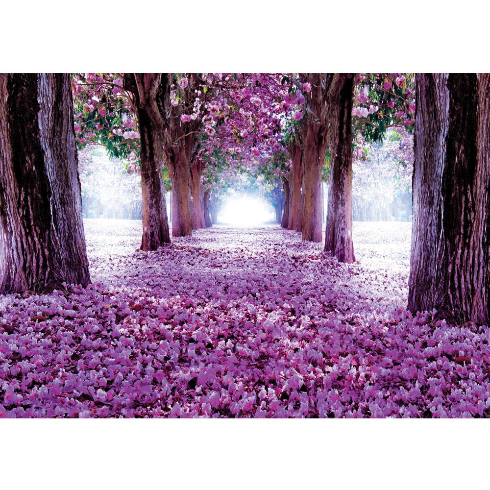 Fototapete no. 722 | Vlies | Natur Tapete Weg Bäume Blüten Allee Frühling Motiv 0722