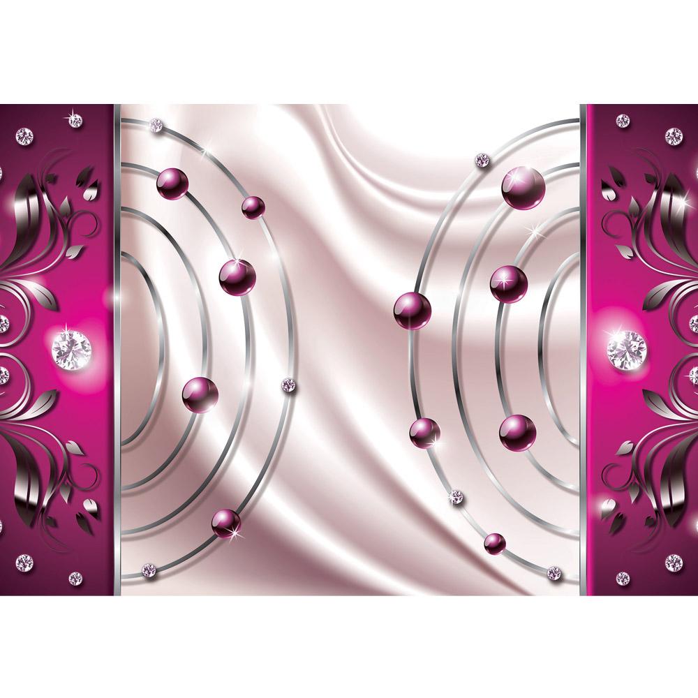 Fototapete no. 733 | Vlies | Ornamente Tapete Abstrakt Perlen Diamant Bogen Motiv 0733