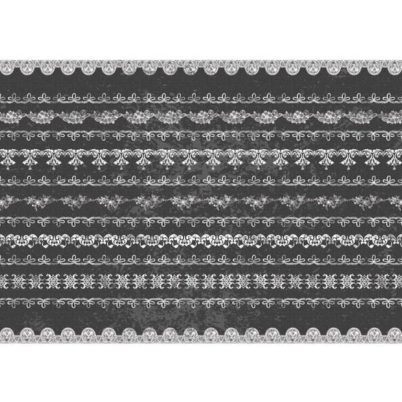 Fototapete no. 747 | Vlies | Ornamente Tapete Spitze Muster Blumen Schnörkel Motiv 0747