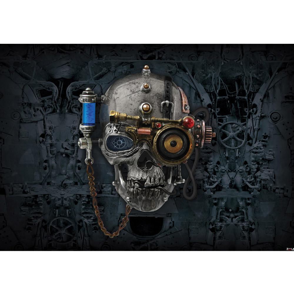 Fototapete no. 823 | Vlies | Illustrationen Tapete Alchemy Necronaut Totenkopf Motiv 0823