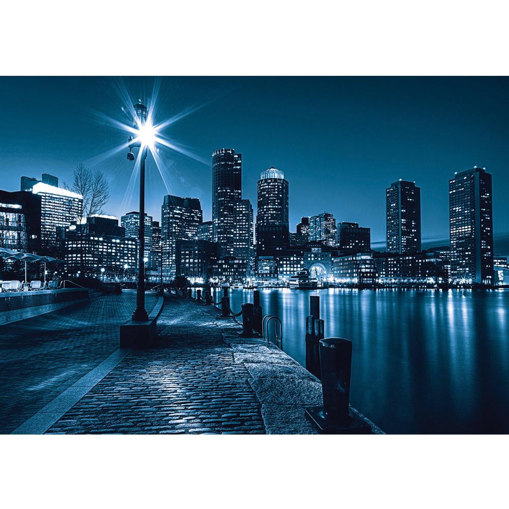 Fototapete no. 856 | Vlies | New York Tapete Laterne Nacht Skyline Lichter Motiv 0856