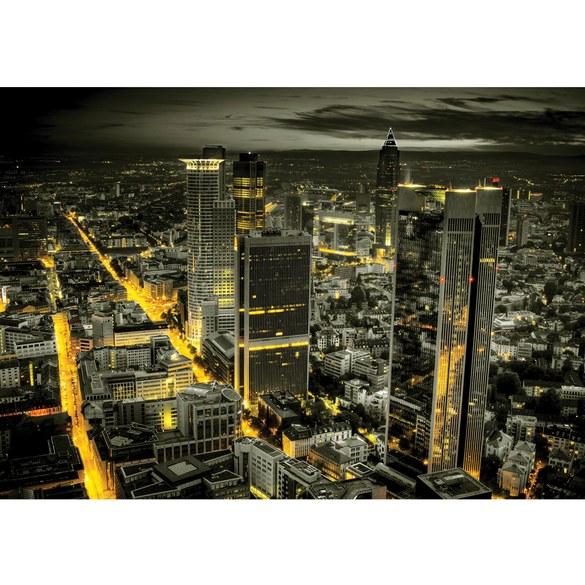 Fototapete no. 957 | Vlies | Skylines Tapete Panorama Skyline Häuser Straßen Motiv 0957