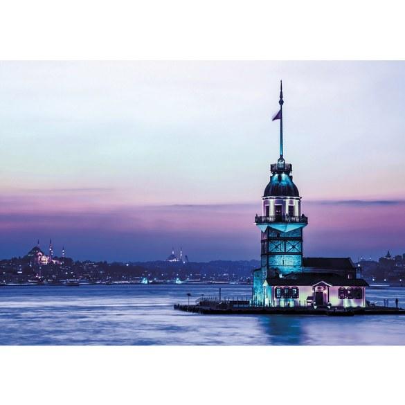 Fototapete no. 989 | Vlies | Skylines Tapete Leuchtturm Meer Küste Turm Lightning Motiv 0989