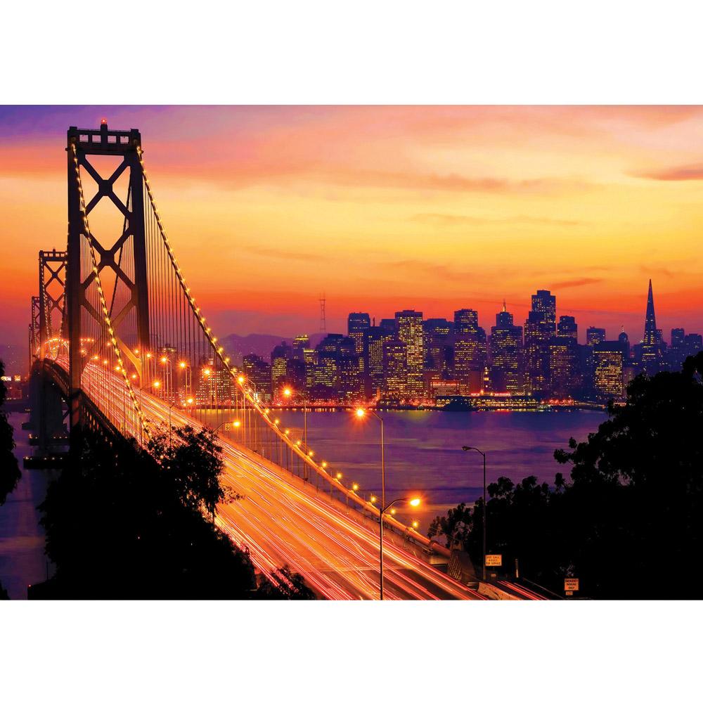 Fototapete no. 1009   Vlies   USA Tapete Brücke Himmel Lightning San Francisco Motiv 1009