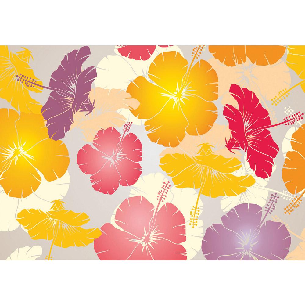 Fototapete no. 1107 | Vlies | Illustrationen Tapete Abstrakt Blüten Hawaii Motiv 1107