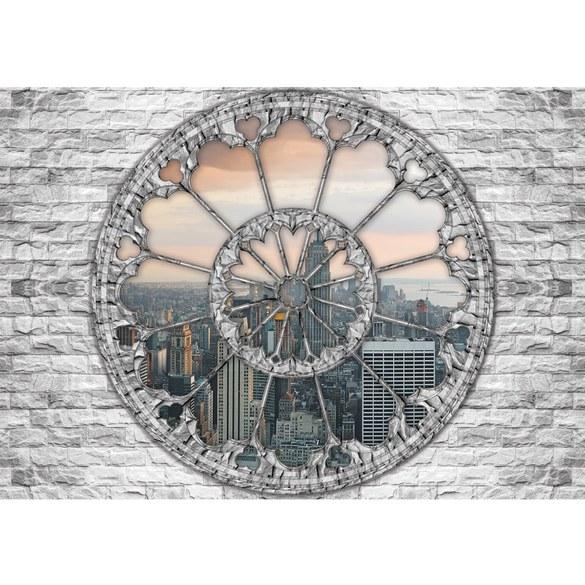 Fototapete no. 1230 | Vlies | New York Tapete Steinwand Panorama Skyline Steine Motiv 1230