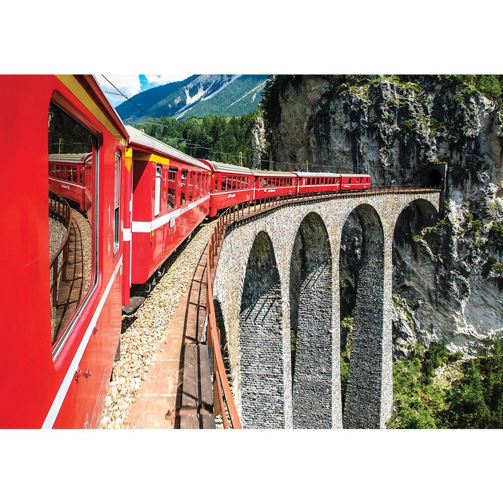 Fototapete no. 1331 | Vlies | Gebirge Tapete Berge Eisenbahn Gleis Mountains Motiv 1331