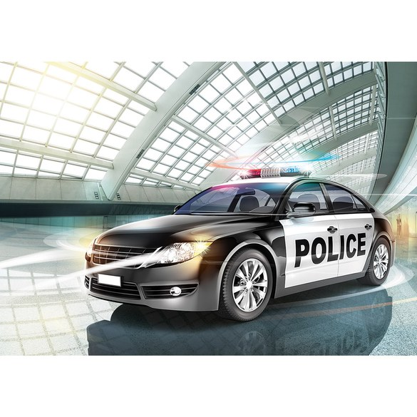 Mural no. 1351 | Non-woven or Paper | illustrations wallpaper police car