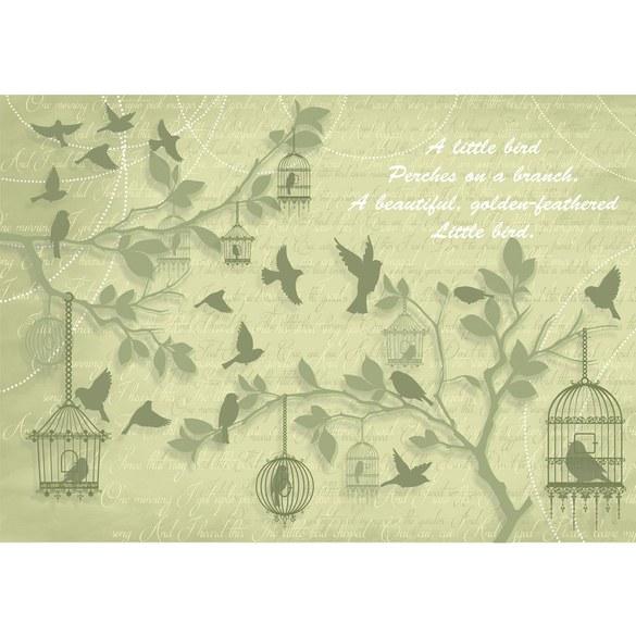 Mural no. 1380 | Non-woven or Paper | illustrations wallpaper birds animals