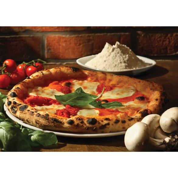 Fototapete no. 1392 | Vlies | Speisen Tapete Pizza Gewürze Gemüse Pilze Tomaten Motiv 1392