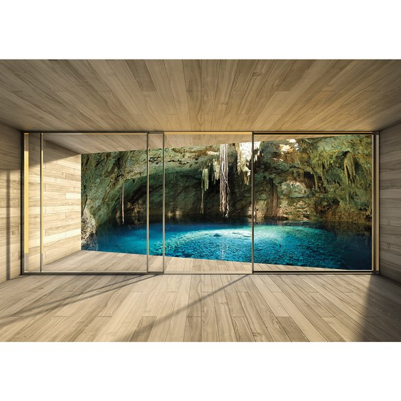Fototapete no. 1403   Vlies   Architektur Tapete Terrasse Balkon Fenster Holzwand Motiv 1403