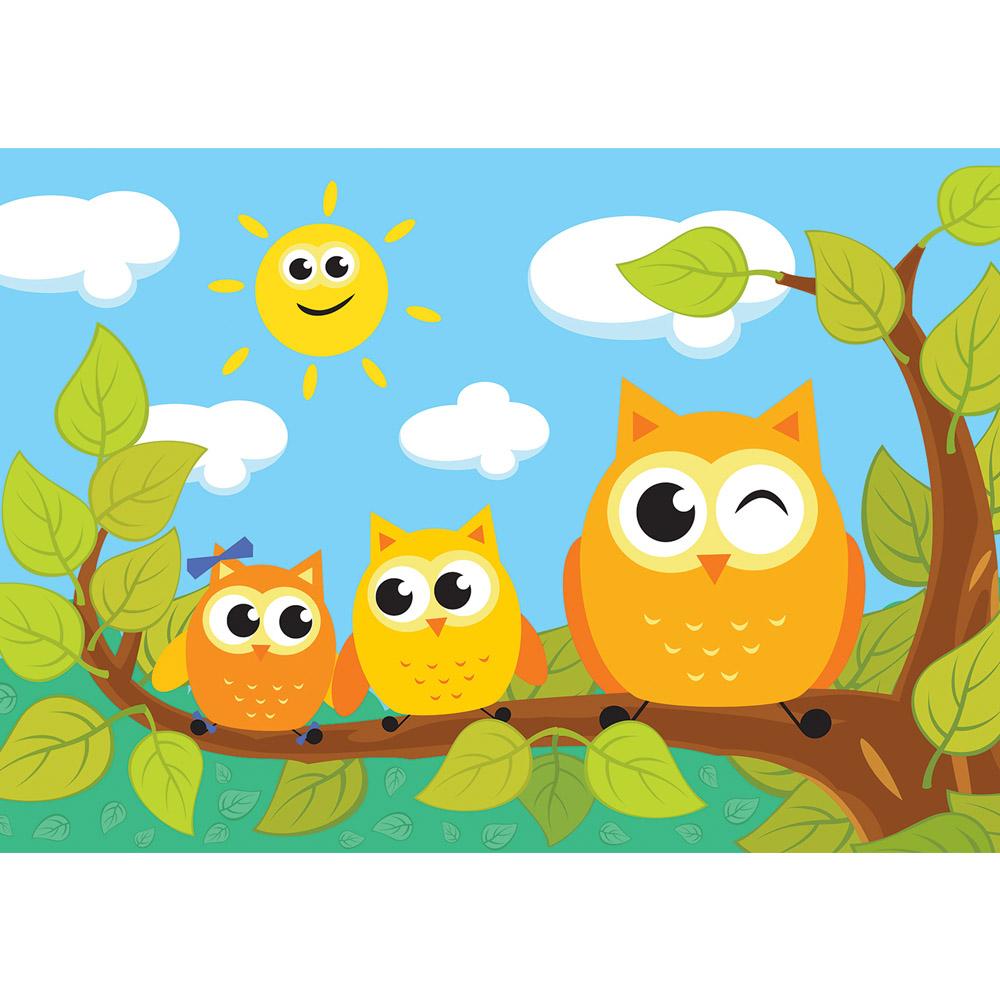 Fototapete no. 1466 | Vlies | Cartoon Tapete Kindertapete Cartoons Eule Sonne Motiv 1466