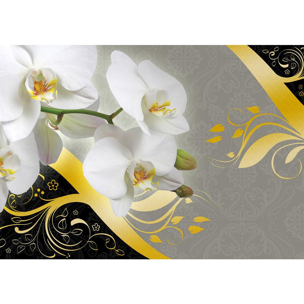 Fototapete no. 1489   Vlies   Ornamente Tapete Orchidee Blume Blüte Knospen Motiv 1489