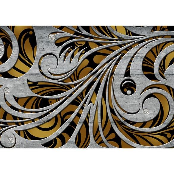 Fototapete no. 1526 | Vlies | Ornamente Tapete Schnörkel Schwung Diamant Linien Motiv 1526