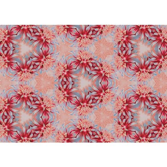 Fototapete no. 1546 | Vlies | Blumen Tapete Blume Blüten Kreise Kranz rot Motiv 1546